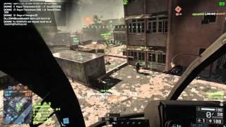 Battlefield 4 92 Killstreak Scout Helicopter Gameplay
