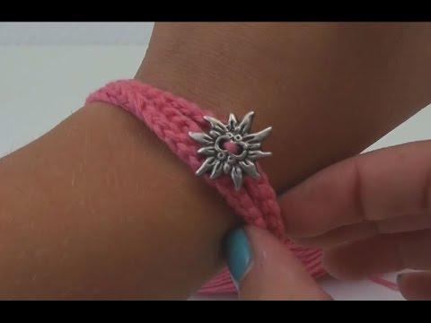 Häkeln Armband Anleitung zum Oktoberfest – Freundschaftsbändchen Tutorial how to crochet a bracelet
