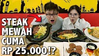 Video WOW! CUMA RP 25.000 BISA MAKAN STEAK UDAH DAPET MINUM !! MP3, 3GP, MP4, WEBM, AVI, FLV April 2019