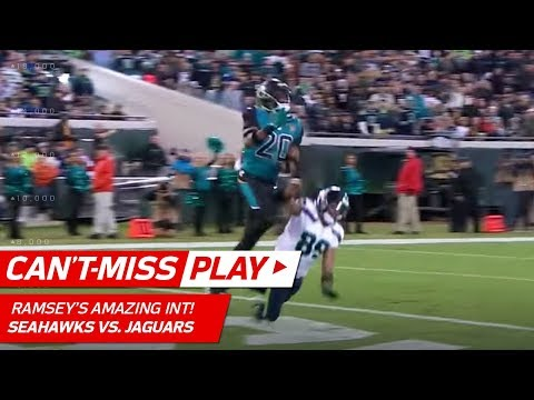 Video: Jalen Ramsey's Spectacular INT Off Russell Wilson's Pass! | Can't-Miss Play | NFL Wk 14 Highlights