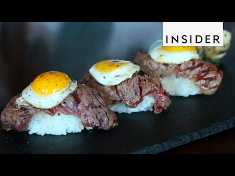Steak and Egg Sushi for Breakfast