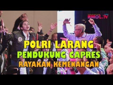 Polri Larang Pendukung Capres Rayakan Kemenangan
