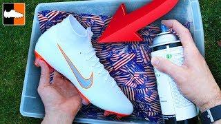 Video How To Hydro Dip Flag 🇺🇸 Custom Boots ⚽️ Soccer Gear! MP3, 3GP, MP4, WEBM, AVI, FLV Februari 2019