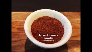 written recipe: http://www.aapdukitchen.com/biryani-masala-recipeWebsite – http://www.aapdukitchen.comFacebook – https://www.facebook.com/aapdukitchenTwitter – https://twitter.com/aapdukitchenPinterest – https://www.pinterest.com/aapdukitchenGoogle Plus – https://plus.google.com/112725605940703008905/postsLinkedin - https://in.linkedin.com/in/aapdukitchenInstagram - https://www.instagram.com/aapdukitchenTumblr - http://aapdukitchen.tumblr.comYoutube - https://www.youtube.com/channel/UCwpTmv0AKkS5GgK7I4v8lRwbiryani masala recipe  biryani masala powder how to make homemade biryani masala with step by step photo and video recipe. biryani masala powder can be used to make chicken biryanior any non veg biryani and veg biryani as well. this is a perfect blend of spices to make an authentic biryani.biryani masala recipe  biryani masala powder how to make homemade biryani masala with step by step photo and video recipe. this is a perfect masala for preparing any type of biryani, i.e; non veg biryani or veg biryani. this masala powder can also be added in making pulav. this masala is very flavorful and aromatic. it takes no time time to prepare this authentic homemade biryani masala powder which is chemical and preservative free.