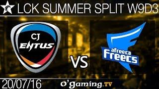 Afreeca Freecs vs CJ Entus - LCK Summer Split 2016 - W9D3