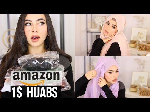 TRYING 1$ HIJABS/MUSLIM HEADCOVERING FROM AMAZON