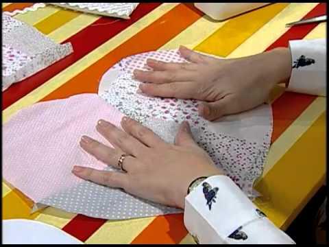 patchwork - come realizzare un cuscino a forma di cuore
