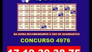 Jogos de meninas - QUINA CONCURSO 4976 * 16/05/2019