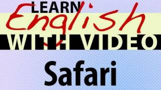 Safari Animals Lesson