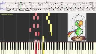 Солнечный зайчик (Ноты и Видеоурок для фортепиано) (piano cover)
