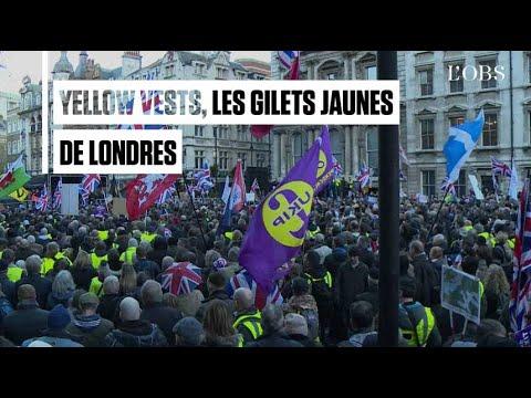 """Les """"gilets jaunes"""" font leur apparition à Londres"""