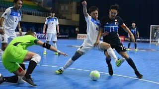 Maksadbek Alimov netted a hat-trick as Kyrgyzstan moved to within one match of qualification for their maiden Futsal World Cup...