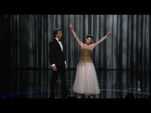 Oscars - Hugh Jackman's opening number saluting Oscar® nominated films at the 81st Annual Academy Awards®. With Anne Hathaway.