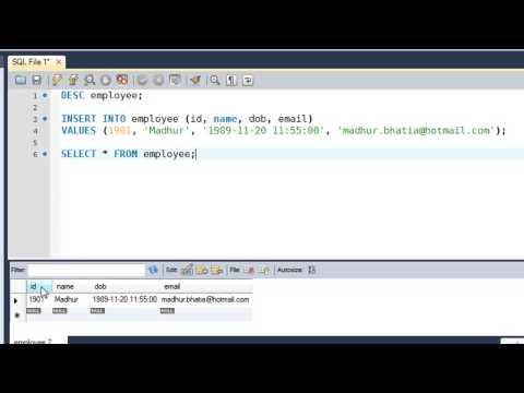 SQL Tutorial - 12: Inserting Data Into Tables