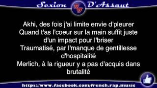 Sexion d'Assaut - à coeur ouvert (Paroles) HD 2012 (Lyrics)