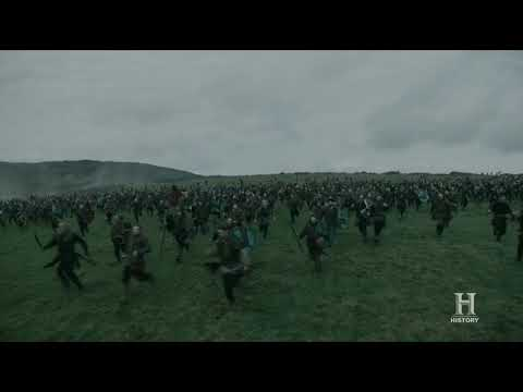 Vikings S05E08 - Bishop Headmund falls on battle - Civil Battle (Part 2)
