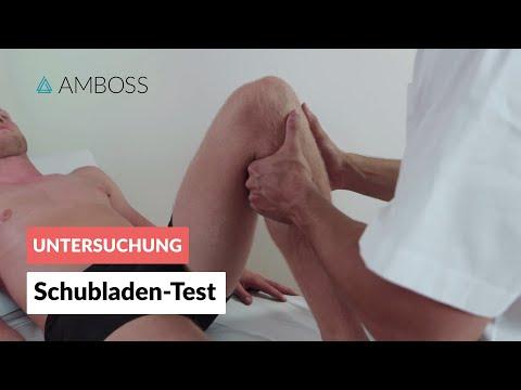 Schubladen-Test - Orthopädie - Untersuchung des Knies (Kreuzbänder) - AMBOSS Video