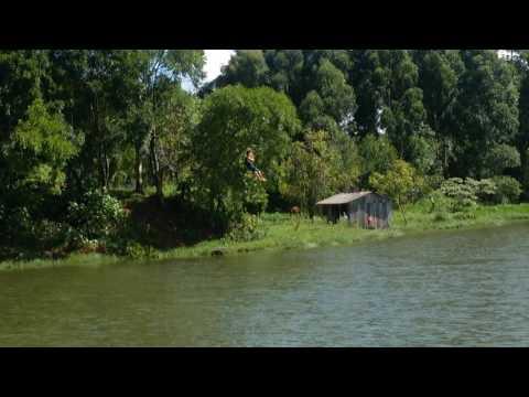 Tirolesa em faxinalzinho/rio grande do sul