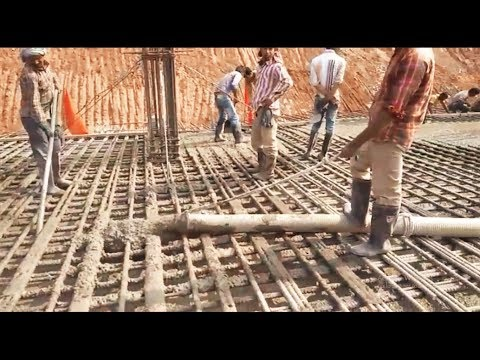 Amazing Construction Foundation Using Ready Mixed Concrete, Pump Truck    Medley    MIST