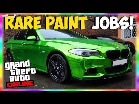 "GTA 5 Rare Paint Jobs: RARE ""Colored Chrome"" Paint Job Online! ""GTA 5 Secret Paint Jobs"""