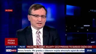 Ziobro uważa, że pobicie wiceszefa KNF Wojciecha Kwaśniaka, to wina KNF. Państwo prawa i sprawiedliwości.