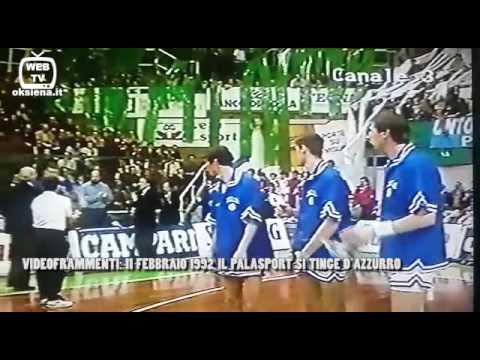 VIDEOFRAMMENTI BIANCOVERDI: 11 FEBBRAIO 1992, IL PALASPORT SI TINGE D'AZZURRO