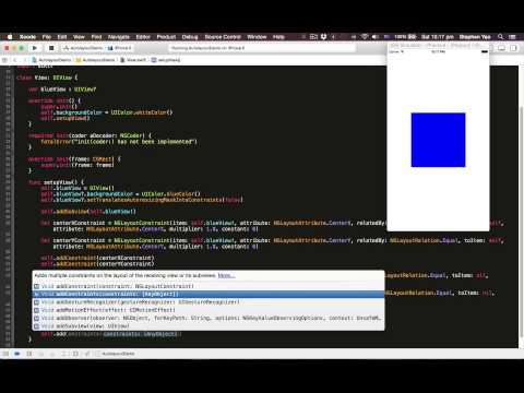 IOS Tutorial: Programmatically Creating Autolayout Constraints