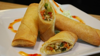 Make the perfect chicken spring rolls with this simple and easy recipe!Ingredients:1 lb Chicken Breast 1 Small Onion1 Tbsp minced garlic1/2 Cabbage2 Medium size CarrotsGreen OnionSpring Rolls Sheets1 EggOil for fryingMusic - Youtube Audio Library - Heartland