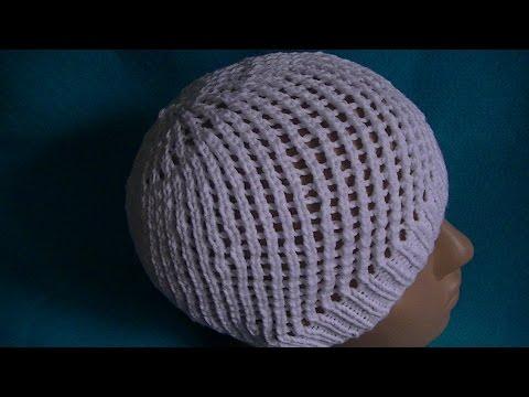 Вязание шапочки по кругу на спицах