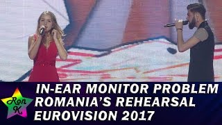 """Video """"You can't Yodel without in-ear"""" 😄 Romania's rehearsals - In-ear monitor problem - Eurovision 2017 MP3, 3GP, MP4, WEBM, AVI, FLV Mei 2017"""