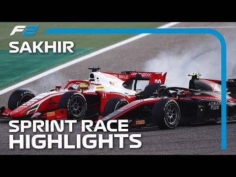 F2 Sprint Race Highlights | 2020 Sakhir Grand Prix