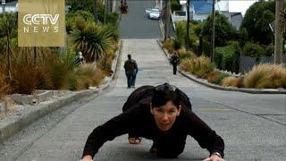 من نيوزيلندا.. الشارع الأكثر انحدارا فى العالم