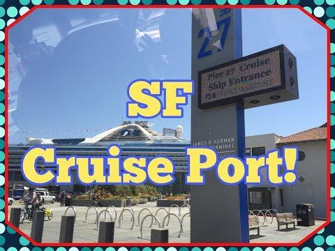 San Francisco Cruise Terminal l Boarding the Grand Princess!