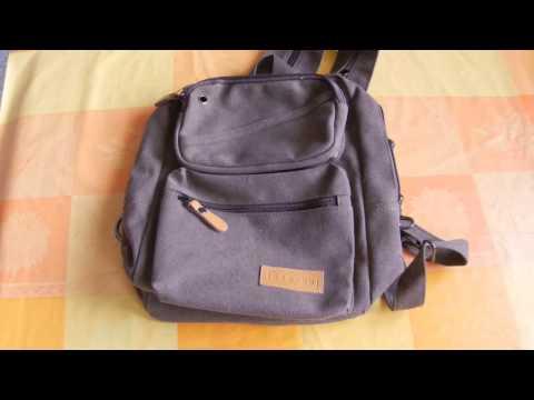 Banggood Men Women Canvas Multifunctional Backpack Casual Travel Backpack Crossbody Bag