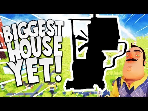 THIS HAS TO BE THE BIGGEST HOUSE THE NEIGHBOR EVER BUILT! | Hello Neighbor Mod Gameplay (видео)