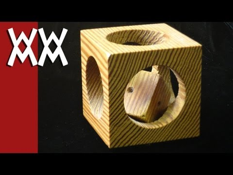 woodworking - Quickie woodworking project showing how to make a cube within a cube. This is a fun and simple project. The wood is pine. ---------------- Woodworking For Me...