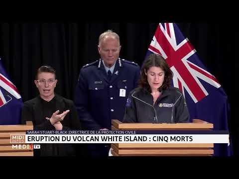 Nouvelle Zélande : 5 morts dans l'éruption du volcan White Island