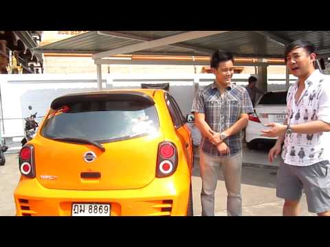 Glossy Orange Nissan March