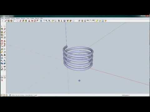 Sketchup Tutorial: Einfache 3D Spirale zeichnen – Draw a simple 3D Spiral
