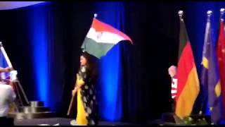 Indian flag, flying high at the Parade of Flags!