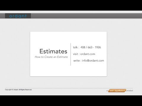 Creating A Print Estimate – Video Tutorial for Ordant Print Estimating Software by Ordant