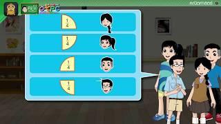 สื่อการเรียนการสอน ความหมาย การอ่าน และการเขียนเศษส่วน ตอนที่ 2 ป.4 คณิตศาสตร์