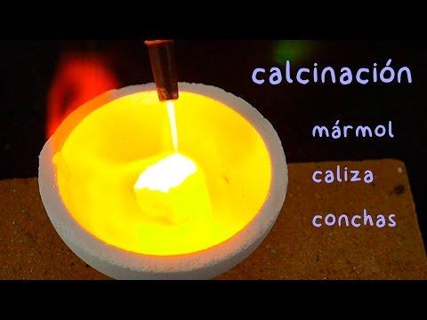 Calcinación del Mármol, Piedra Caliza y Conchas Marinas. Cómo Hacer Cal Viva.
