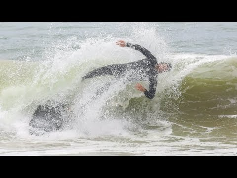 EXCLUSIVE - Liam Hemsworth WIPES OUT While Surfing In Malibu