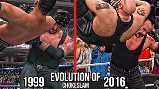 The evolution of Undertaker finisher/signature move Chokeslam from year 1999 to 2016 which features in WWE games  WWF Wrestlemania 2000 to WWE 2K17.Subscribe to Bestintheworld https://goo.gl/bh0dMlFollow me on Twitter https://goo.gl/g2hpKr