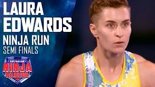 Ninja run: Laura Edwards (Semi Final)   Australian Ninja Warrior 2018