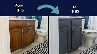 Chalk Paint Cabinets | Cheap Bathroom Renovation