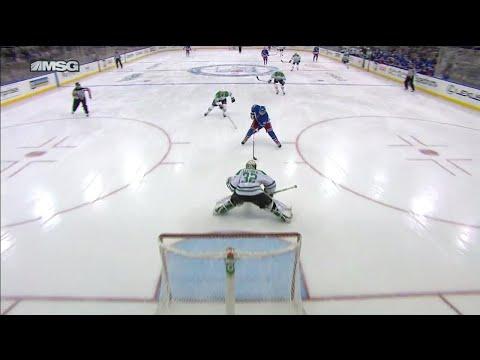 Video: Stars' Lehtonen robs Rangers' Miller on breakaway