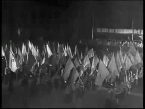 FDJ - Marsch anlässlich der Gründung der DDR (1949)