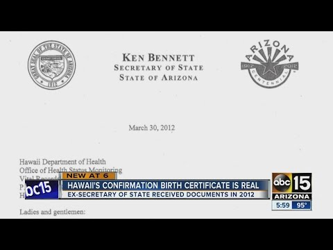 Video Documents: Arizona Secretary of State received confirmation of Obama's birth in 2012 download in MP3, 3GP, MP4, WEBM, AVI, FLV January 2017